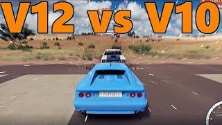 Forza Horizon 3   V10 Lotus Esprit vs V12 AMC Machine   Runway DRAG RACING