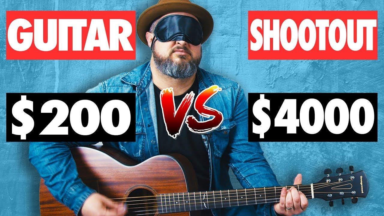 Can a $200 Guitar Beat a $4000 Guitar? Acoustic Guitar Blind Test