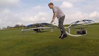 Guy who doesn't know what he's doing builds working hoverbike