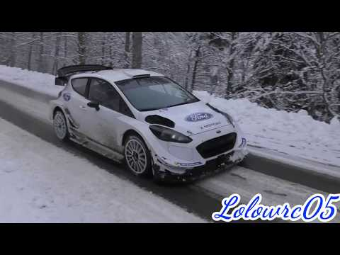 Test Rallye Monte Carlo 2018 Sébastien Ogier Snow Ford Fiesta Wrc