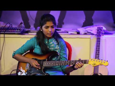 June Ponal July Katre (Unnalae Unnalae) Electric Guitar Solo Cover By Aishwarya