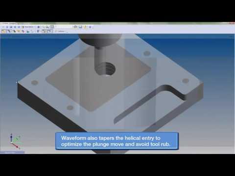 Waveform Machining with Edgecam (видео)