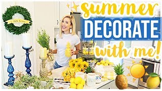 CLEAN + DECORATE WITH ME! ☀️✨🍋 NEW KITCHEN + NEW SUMMER DECOR 2019 Brianna K