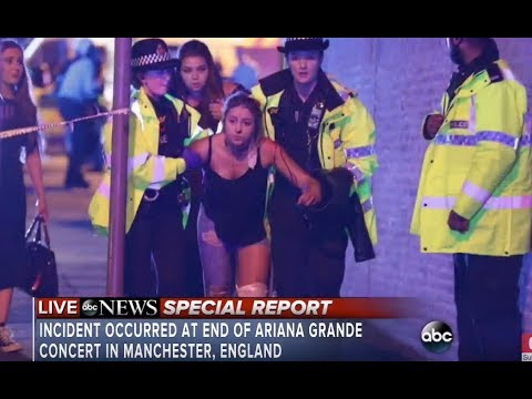 Ariana Grande concert explosion at Manchester  | At least 19 dead  in attack (видео)