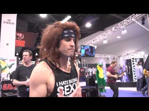 steel - Satchel from Steel Panther takes over Guitar World & meets a guitar hero at NAMM 2015!