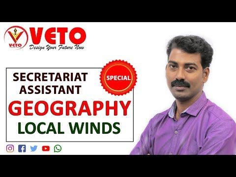 Kerala PSC | Secretariat | Assistant | Degree Level  | Geography -Local Winds |