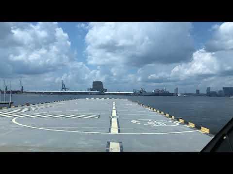 Departing Pier 7 (4MD) in a twin turbine Agusta 109 C...