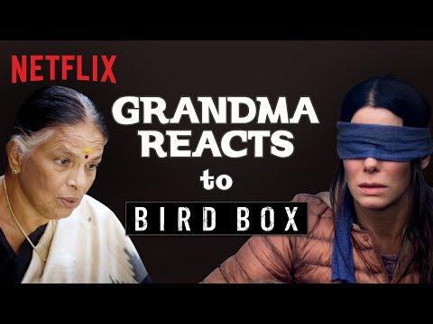 Indian Grandma reacts to Bird Box | Netflix