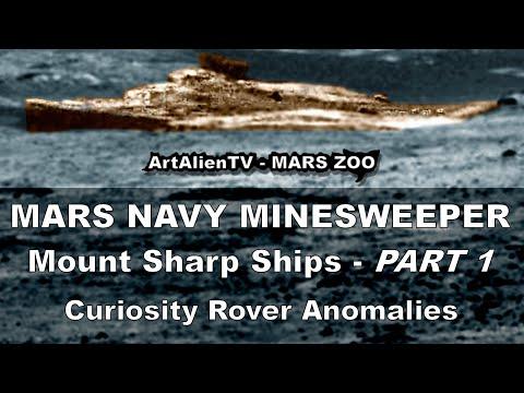 MARS NAVY MINESWEEPER – Mount Sharp Alien Ship. ArtAlienTV – MARS ZOO 1080p (PART 1)
