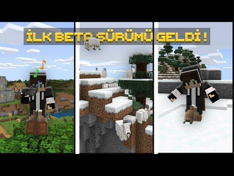Çalınabilen Keçi Boynuzu, Batılan Tozlu Kar ve Muhteşem Keçiler ! | Minecraft 1.17 Beta