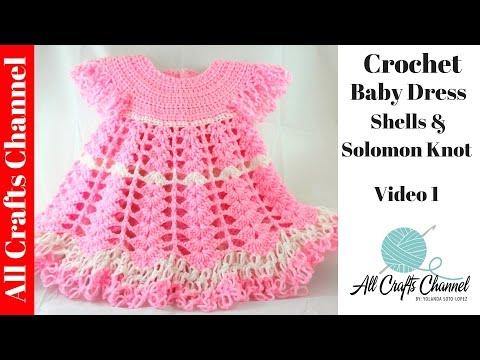 Вязание платья для девочки крючком ютуб