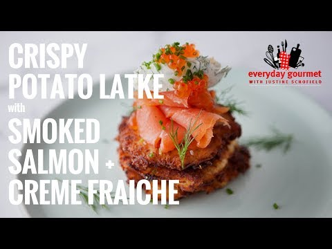 Bulla Crispy Potato Latke with Smoked Salmon and Creme Fraiche | Everyday Gourmet S6 EP46