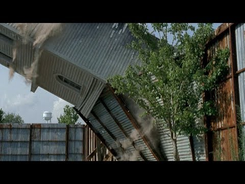 TWD S6E7 - Deanna thanks Rick for saving Spencer | A tower collapses on Alexandria | Ending