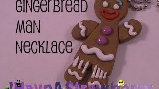 Gingerbread Man Necklace - YouTube