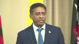 Remarks by President Danny Faure during our joint press briefing at State House, Nairobi.