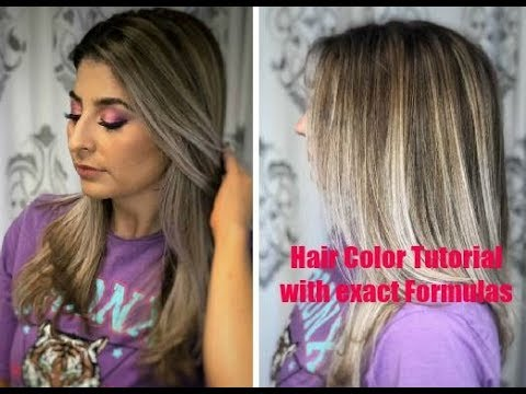 Hair Color How To: Blonde Hair on Natural Level 5 Base with High and Low lights