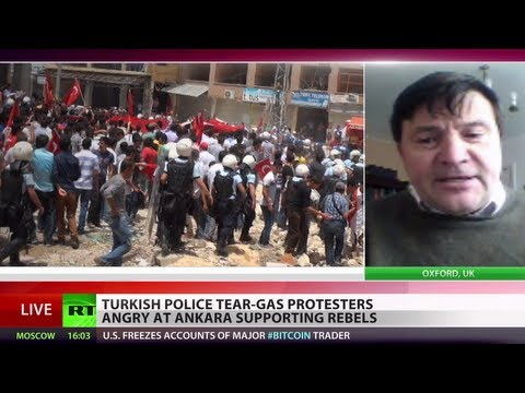 War - Turkish police have fired tear gas at protesters in a town near the Syrian border - which was the scene of a deadly double car bombing a week ago. The unrest...