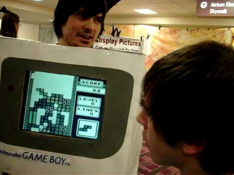 Playable Tetris Costume.