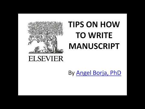 HOW TO WRITE ELSEVIER RESEARCH MANUSCRIPT