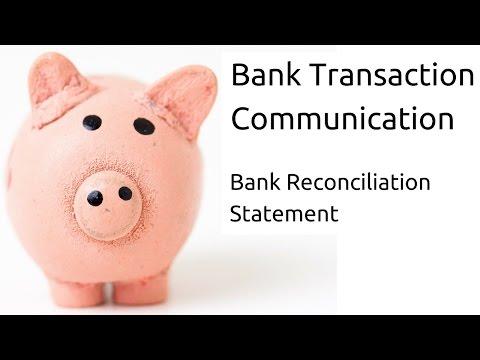 Bank Transaction communication | Bank Reconciliation Statement(BRS)| CA CPT | CS & CMA | Class11