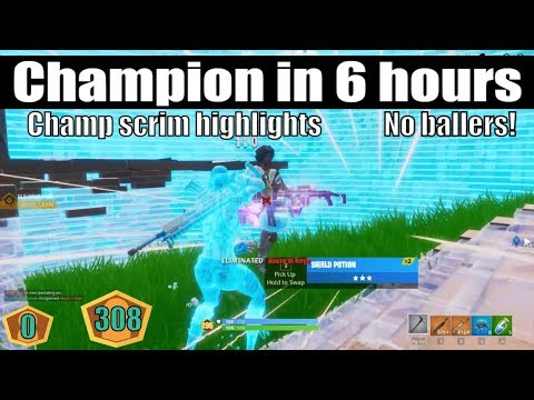 How I Hit Champions Division In 6 Hours In Fortnite (Champs Scrim Highlights)(How To Get Champions)