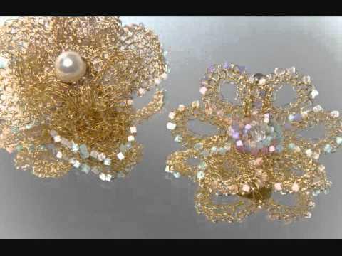 Heliana Lages e suas peças de crochê com fio de metal