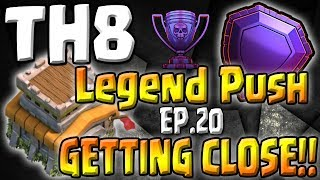 Video GETTING CLOSE!! - TH8 Push to Legends Series - Episode 20 - Clash of Clans MP3, 3GP, MP4, WEBM, AVI, FLV Mei 2017