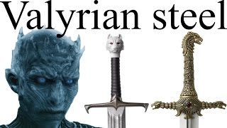 It looks like white walkers are the big threat to Westeros in Game of Thrones Season 7 – and one of the only things that can stop white walkers are Valyrian steel swords. Where are all the Valyrian blades in Westeros, and how might they play into the future of Thrones?This video contains spoilers for Game of Thrones up to Season 6 and Book 5.Subscribe: http://bit.ly/1NtFJufFacebook: https://www.facebook.com/pages/Alt-Shift-X/300119650155615Twitter: https://twitter.com/AltShiftXPatreon: https://www.patreon.com/AltShiftXAlt Schwift X: https://www.youtube.com/AltSchwiftXAlt Shift ZZZ: https://www.youtube.com/AltShiftZZZBuy The World of Ice and Fire: http://amzn.to/2j3KggtBuy A Game of Thrones (ASOIAF Book 1): http://amzn.to/292JmwyBuy ASOIAF Books 1-5: http://amzn.to/2970vVuCreated with Adobe After Effects and a Blue Yeti USB microphone: http://amzn.to/2omw2YbImages and video from Game of Thrones are the property of their creators, used here under fair use.Images from The World of Ice and Fire used with permission.Art by Amok used with permission: https://www.facebook.com/amokanetGerion art by kethryn, used with permission: http://kethryn.deviantart.com/Bloodraven art by Mike Hallstein, used with permission: http://mike-hallstein.deviantart.com/References / further reading:http://awoiaf.westeros.org/index.php/Valyrian_steelhttps://www.reddit.com/r/asoiaf/comments/5eb2qo/spoilers_extended_list_of_all_valyrian_steel/http://nobodysuspectsthebutterfly.tumblr.com/post/139963189913/its-really-hard-to-keep-track-for-me-at-leasthttp://warsofasoiaf.tumblr.com/post/159869149476/its-clear-that-a-valyrian-steel-sword-is-a-veryhttp://nobodysuspectsthebutterfly.tumblr.com/post/132661238973/hello-butterfly-you-mentioned-in-one-of-yourhttp://www.westeros.org/Citadel/FAQ/Entry/1987https://www.reddit.com/r/asoiaf/comments/2dasad/spoilers_none_did_red_rain_belong_to/https://www.reddit.com/r/asoiaf/comments/34emo1/spoilers_all_tywin_missed_a_golden_opportunity_to/Special thanks to the following Patrons: Jason A. Diegmueller, Reverend Xandria, @MrFifaSA, Cameron Weiss, @Vineyarddawg, Eric Louis-Dreyfus, Jason Rattray, Cynbobby Joe, Kate Lyons, Ryan Steele, Michael Appell, Thee Stevie Franchise, Matthew Elisha Williams, Otter, David Howe, Fallon Mail, Cregg Riley, Sean Ludtke, Chris Cole, LightCraft Miniature Studios, Jake Burling, Fred Petty, Chris Amolsch.