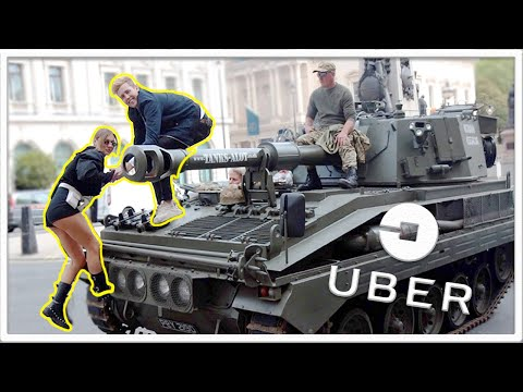 I Was a London Uber Driver for the Day *in a Tank*
