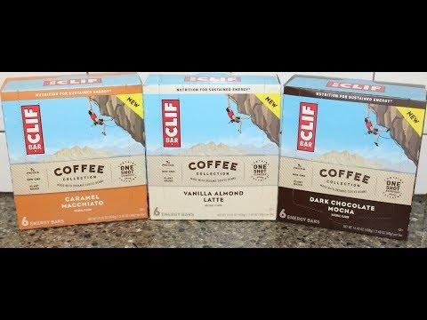 CLIF Bar Coffee Collection: Caramel Macchiato, Vanilla Almond Latte & Dark Chocolate Mocha Review