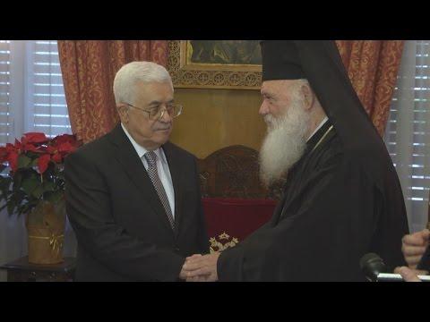 Να εντάξει στις ευχές του την ειρήνη στην Παλαιστίνη, ζήτησε ο Μ. Αμπάς από Ιερώνυμο
