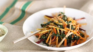Julienned-Carrot and Kale Salad- Healthy Appetite with Shira Bocar by Everyday Food