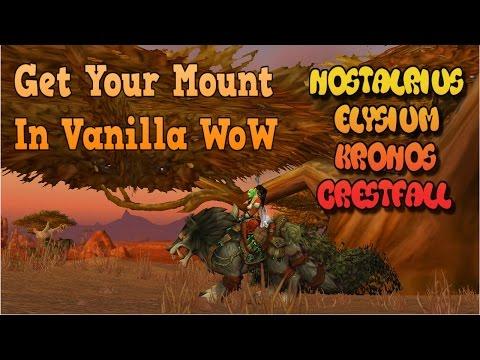 How to Get First Mount in Vanilla WoW Nostalrius/Elysium/Crestfall/Kronos (видео)