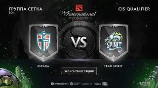 Illidan где-то здесь, Espada vs Team Spirit, The International CIS QL [Lex, 4ce]