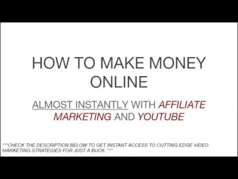HOW TO MAKE MONEY ONLINE ALMOST INSTANTLY [How To Make Money Online] WITH YOUTUBE