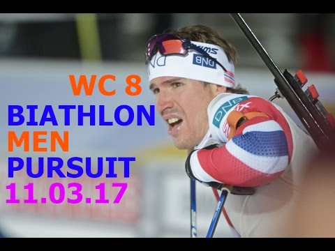 BIATHLON MEN PURSUIT 11.03.2017 World Cup 8 Kontiolahti (Finland)
