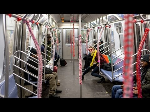 Watch London Kaye YarnBomb the L Train