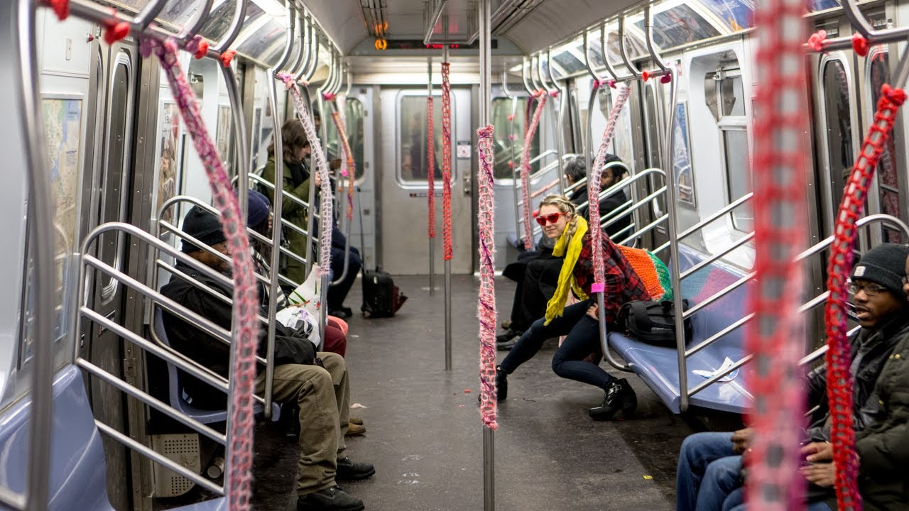 Yarn-Bombing the Subway