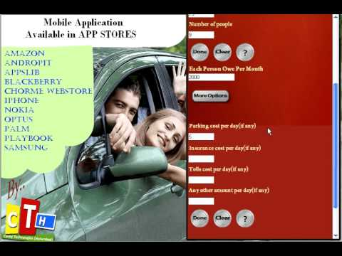 Video of CarPool Calculator