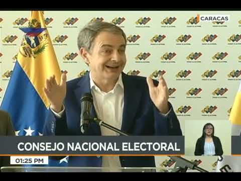 José Luis Rodríguez Zapatero en rueda de prensa desde el CNE, 18 mayo 2018