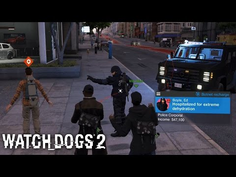 Watch Dogs 2 - How To Make Police Arrest And Send Gang Attack!