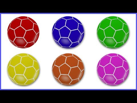 Learn Colors With FIFA Soccer Balls | Learning Colours with Footballs | Videos for Kids & Children