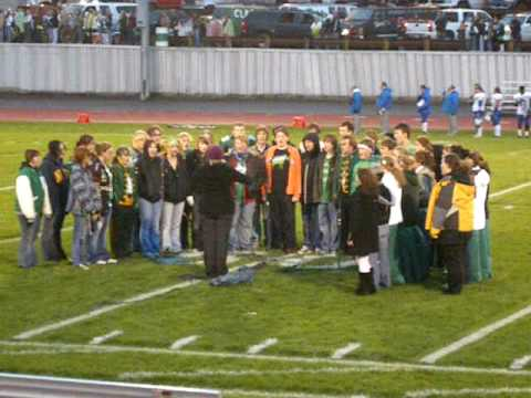 T.F Riggs High School Concert Choir Ntnl. Anthem at Homecoming Game 2009 (видео)