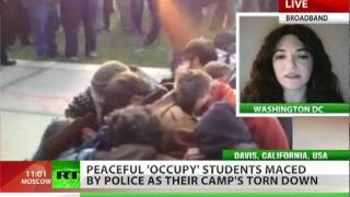Occupy Maced: Police pepper spray unarmed youth, tear tents down