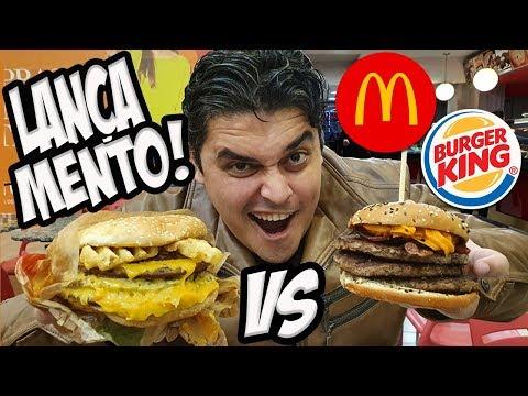 MCDONALD'S vs BURGER KING - Batalha de Lançamentos - HASH FRIES 4.0 vs PICANHA CHEDDAR BACON