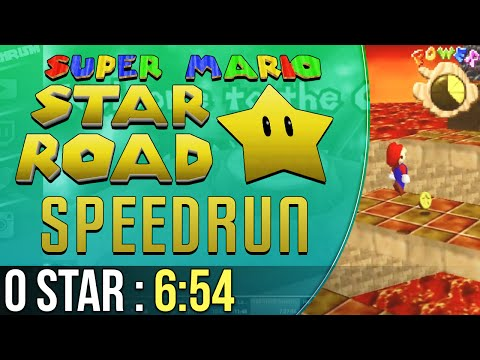 Super Mario Star Road 0 Star Speedrun in 6:54 (видео)