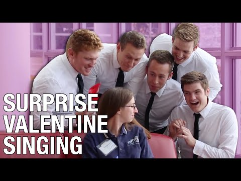 Surprise Valentines Singing!