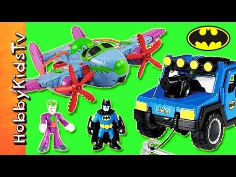 Joker Imaginext PLANE! Gotham City Jail, Batman Toys Battle + Review HobbyKidsTV
