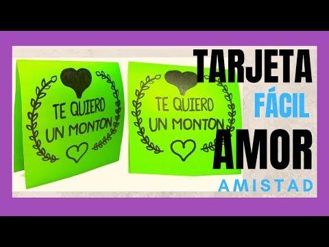Tarjetas de amor - TARJETA DE AMISTAD Y AMOR  LOVE CARD  FRIENDSHIP CARD  DIY