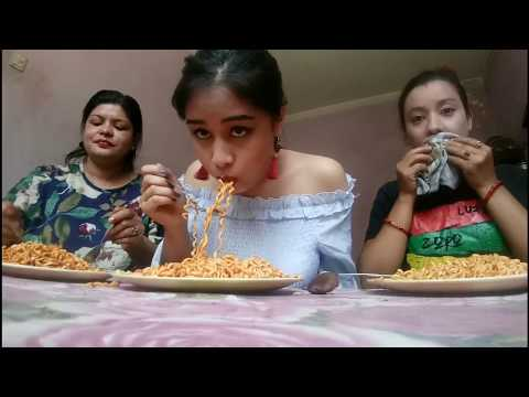 2 Packets x2 Spicy Noodles Challange || My Mom Cried || MUKBANG||